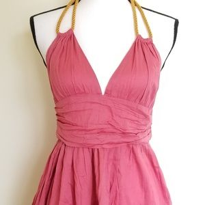 TopShop rope halter dress with pockets size 6